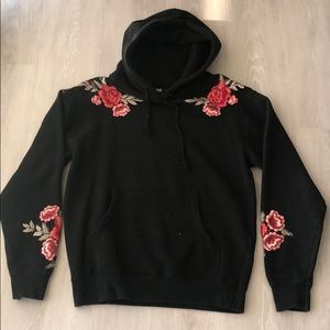 PAIGE- Floral Embroidered Hoodie- O/S